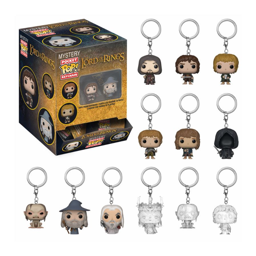 Lord of the Rings Mystery Pocket POP! Vinyl Keychain 5 cm Display (24)