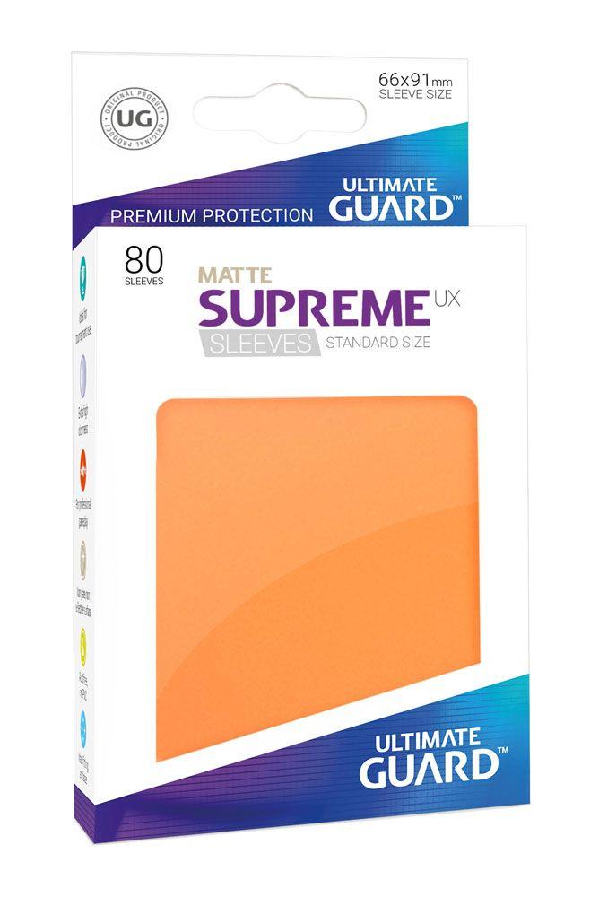 Ultimate Guard Supreme UX Sleeves Standard Size Matte Orange (80)