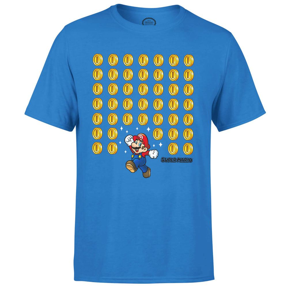 Nintendo T-Shirt Coin Drop Size S