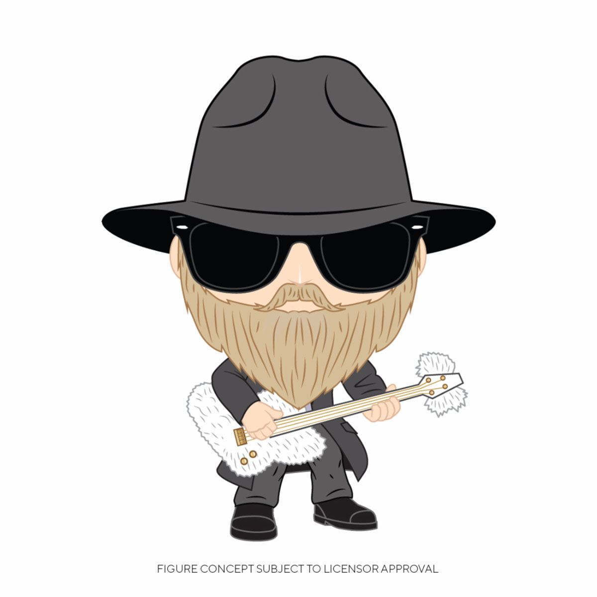 ZZ Top POP! Rocks Vinyl Figure Dusty Hill 9 cm