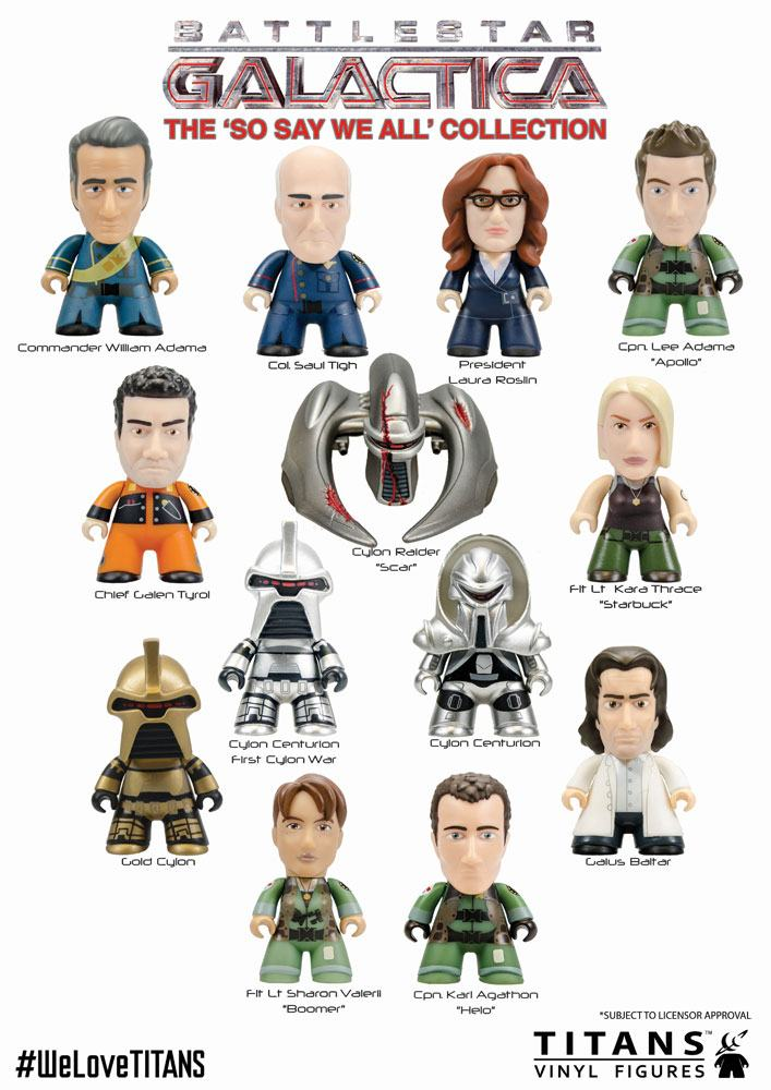 Battlestar Galactica Trading Figure So We Say All Collection Titans Display 8 cm (18)