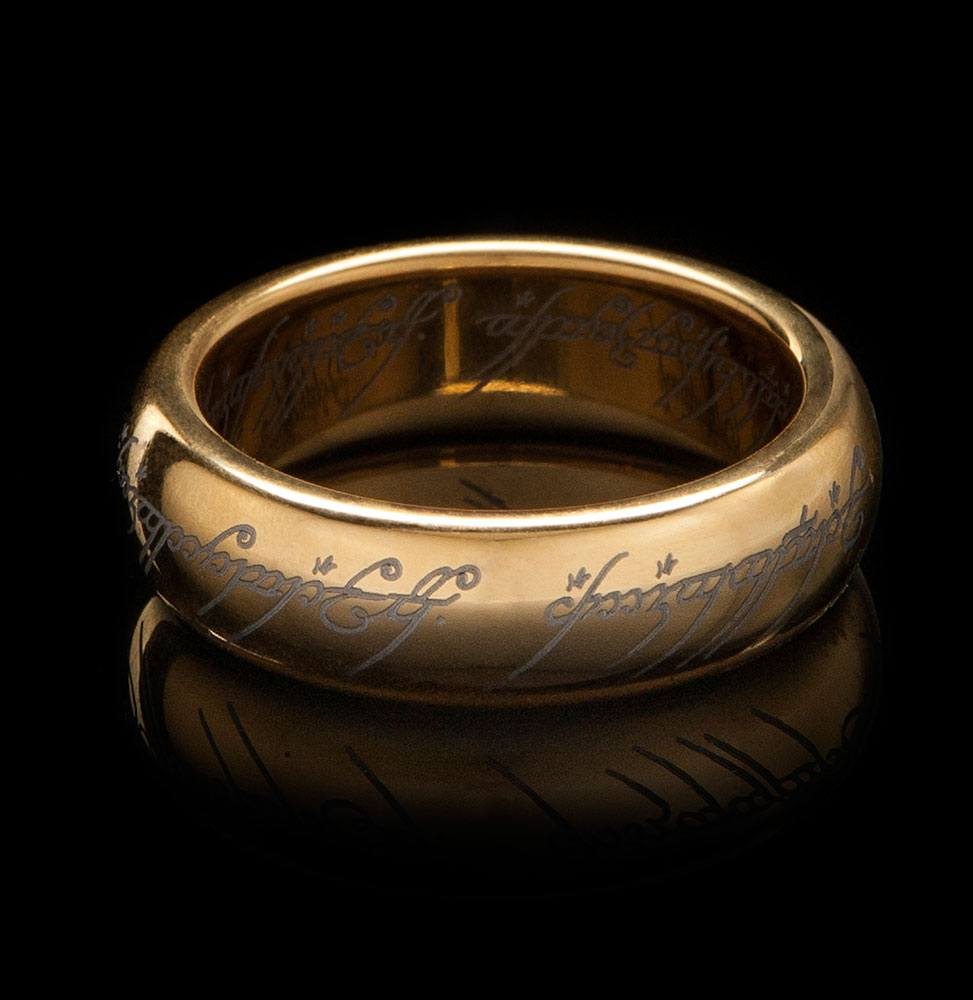 Lord of the Rings Tungsten Ring The One Ring (gold plated) Size 07