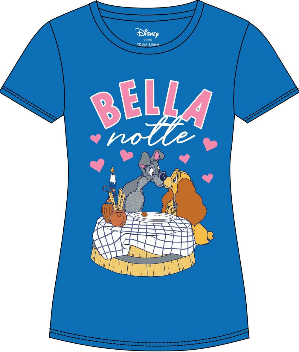 Lady and the Tramp Ladies T-Shirt Bella Notte Size S