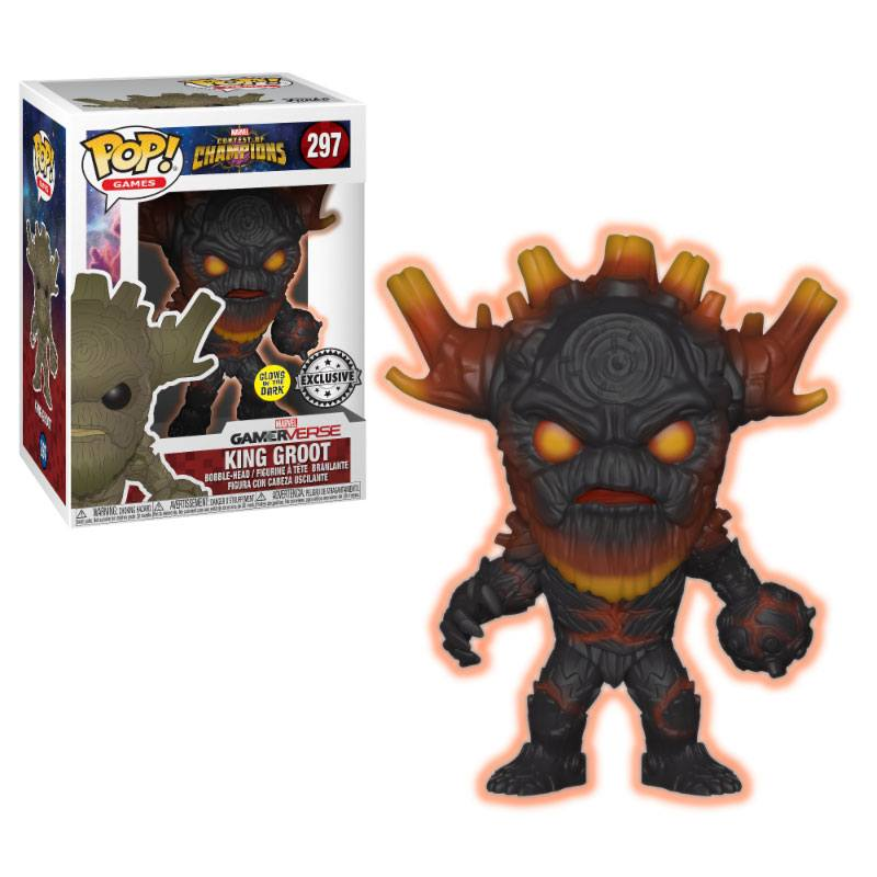 Marvel Contest of Champions POP! Games Vinyl Figure King Groot GITD 9 cm