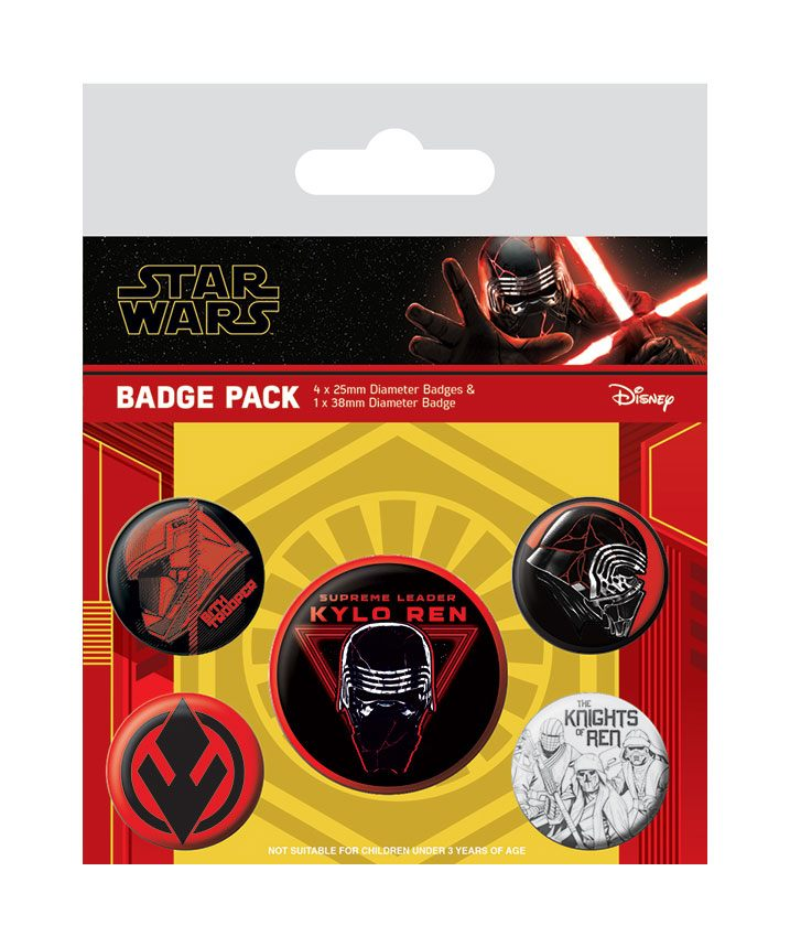 Star Wars Episode IX Pin-Back Buttons 5-Pack Sith