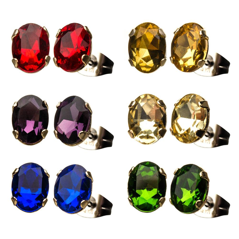 Avengers Infinity War Earrings Set Infinity Gems