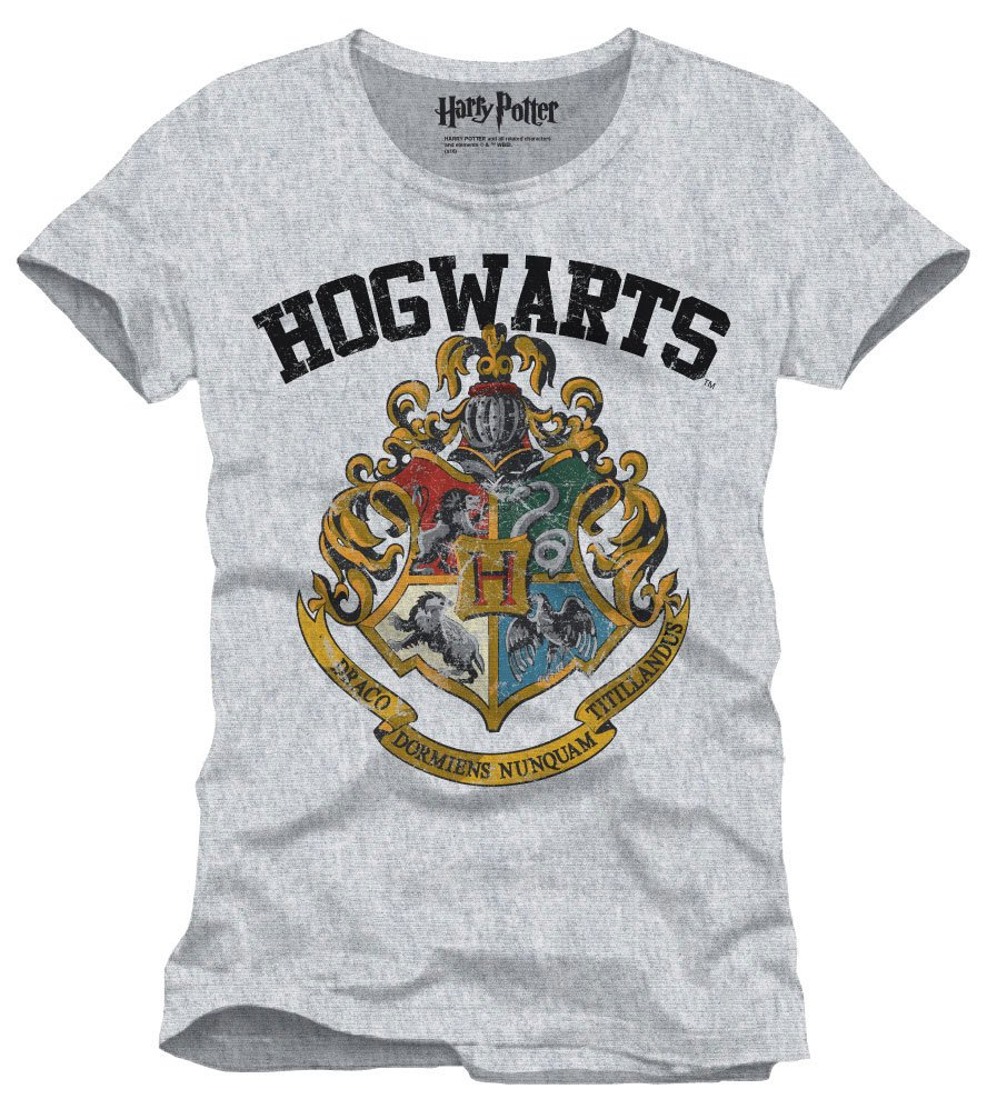 Harry Potter T-Shirt Hogwarts Crest Size M