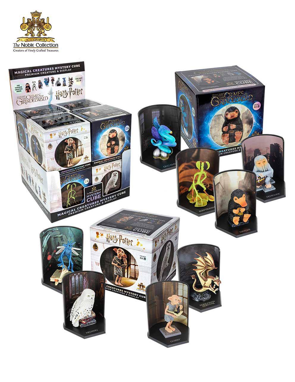 Harry Potter / Fantastic Beasts Magical Creatures Mystery Cube Statues 9 cm Display (8)