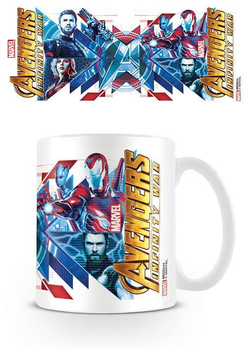 Avengers Infinity War Mug Red Blue Assemble