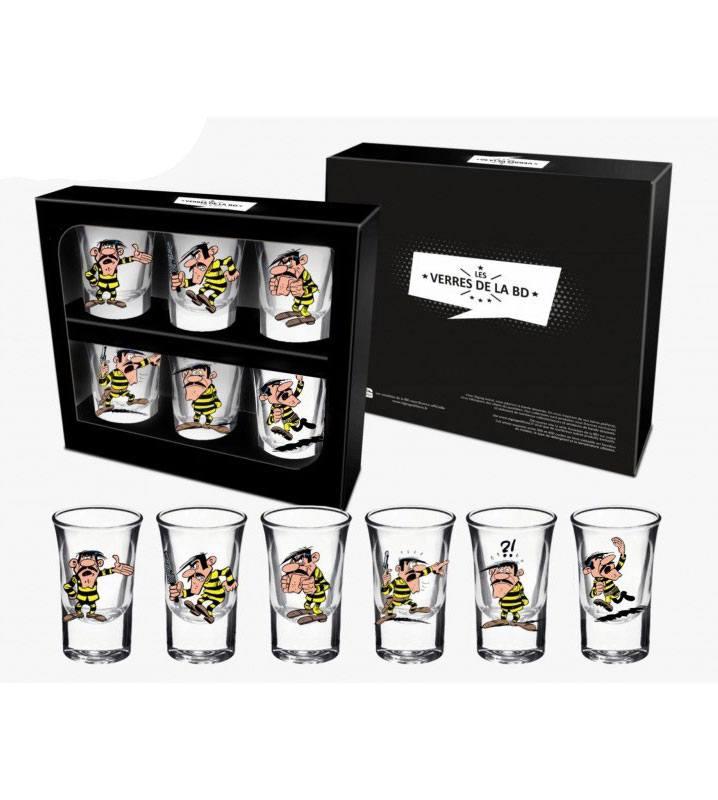 Lucky Luke Shotglass 6-Pack Joe Dalton