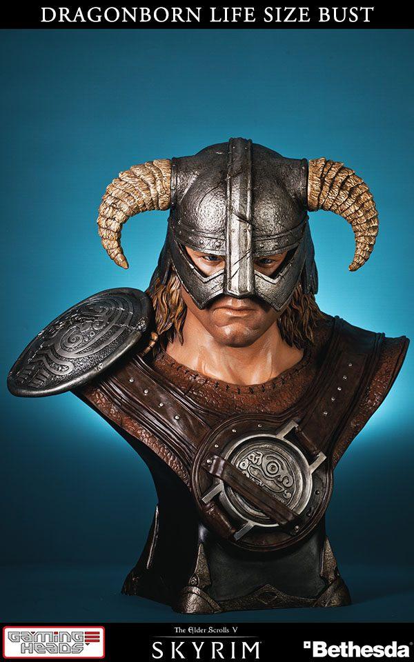 The Elder Scrolls V Skyrim Bust 1/1 Dragonborn 64 cm