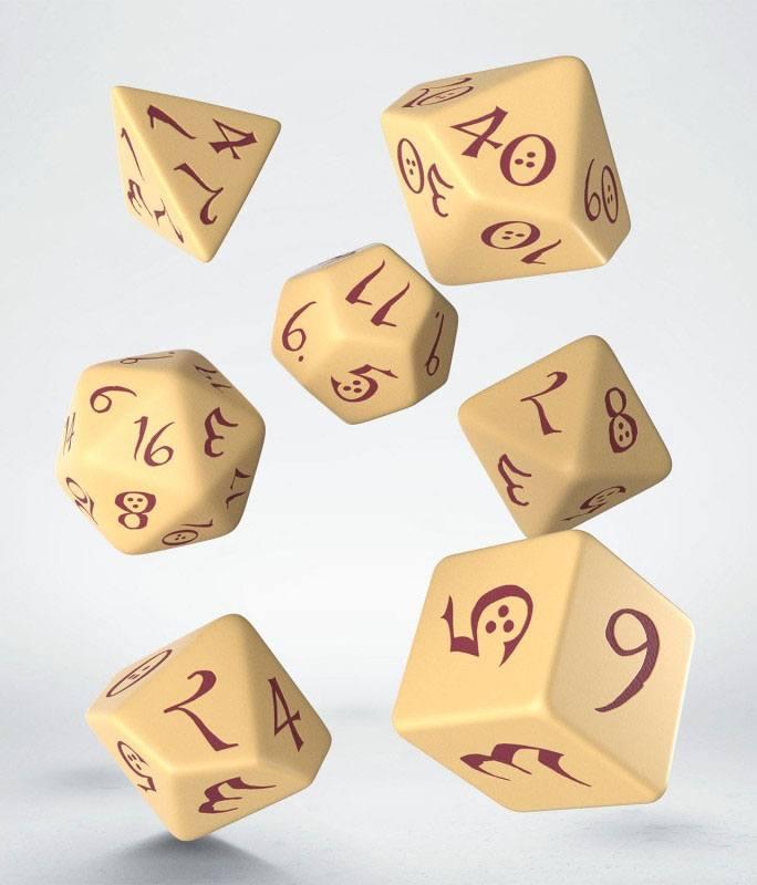 Classic RPG Dice Set beige & burgundy (7)