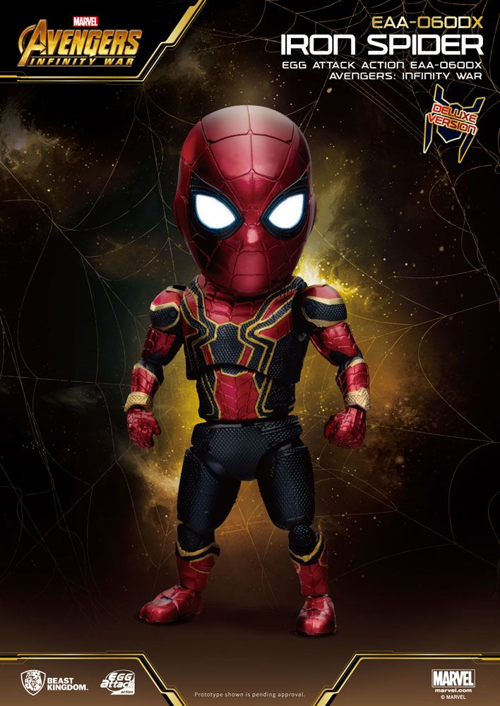 Avengers Infinity War Egg Attack Action Figure Iron Spider Deluxe Version 16 cm