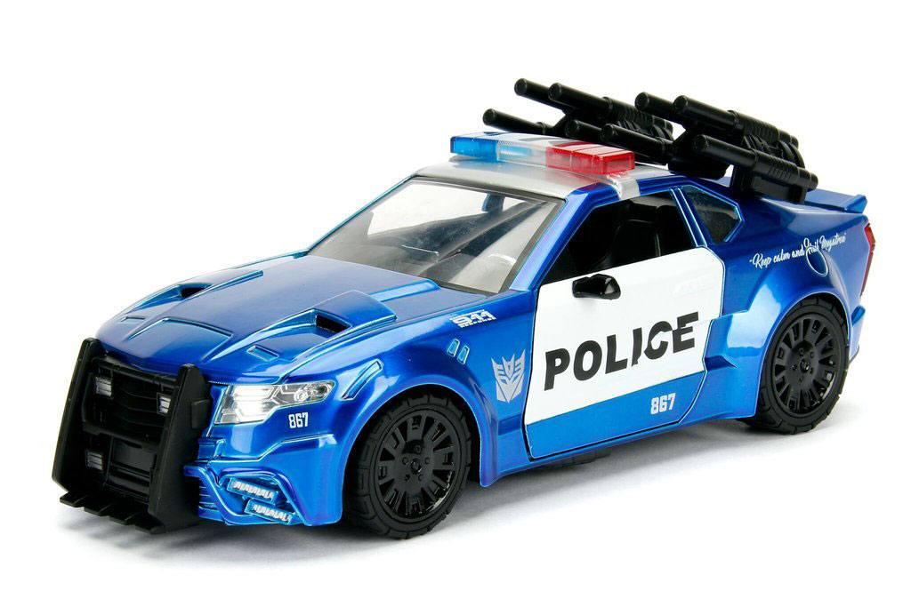 Transformers The Last Knight Diecast Model 1/24 Barricade Police Car