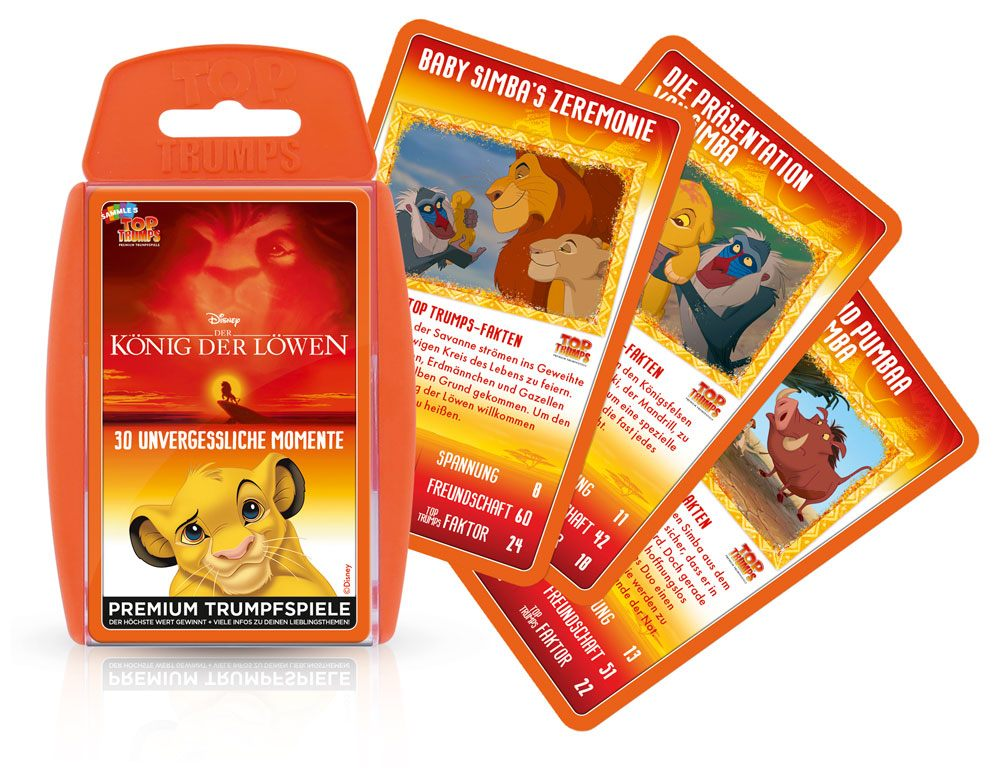 The Lion King Card Game Top Trumps *German Version*