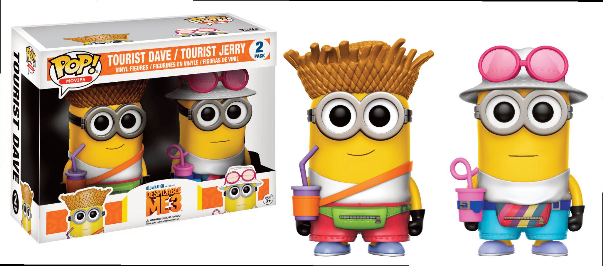 Despicable Me 3 POP! Marvel Vinyl Figures 2-Pack Tourist Dave & Tourist Jerry 9 cm