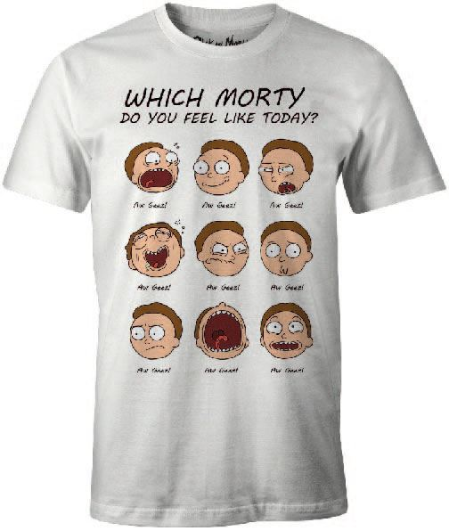 Rick and Morty T-Shirt Morty Faces Size M