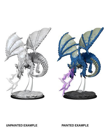 D&D Nolzur's Marvelous Miniatures Unpainted Miniature Young Blue Dragon Case (6)