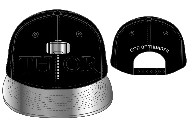 Marvel Comics Adjustable Cap Thor The Hammer