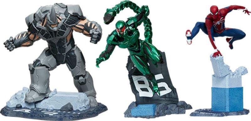 Marvel's Spider-Man Statues 1/12 Spider-Man, Rhino & Scorpion 17 cm