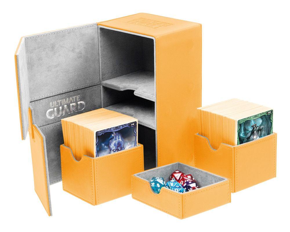 Ultimate Guard Twin Flip´n´Tray  Deck Case 160+ Standard Size XenoSkin Amber