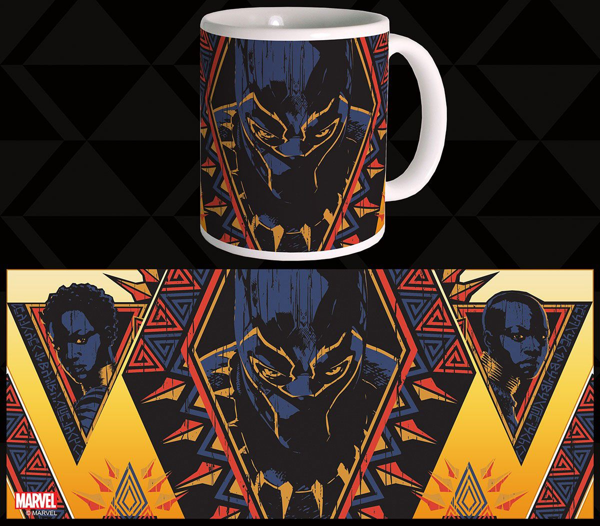 Black Panther Mug Tribal