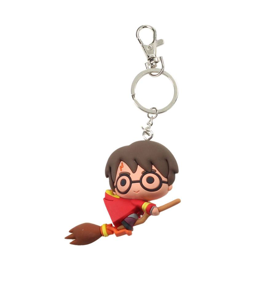 Harry Potter Rubber Keychain Harry Potter & Broomstick 7 cm
