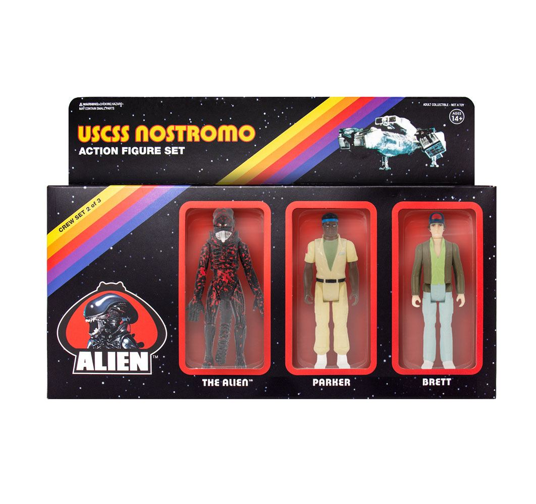 Alien ReAction Action Figure 3-Pack Pack B 10 cm