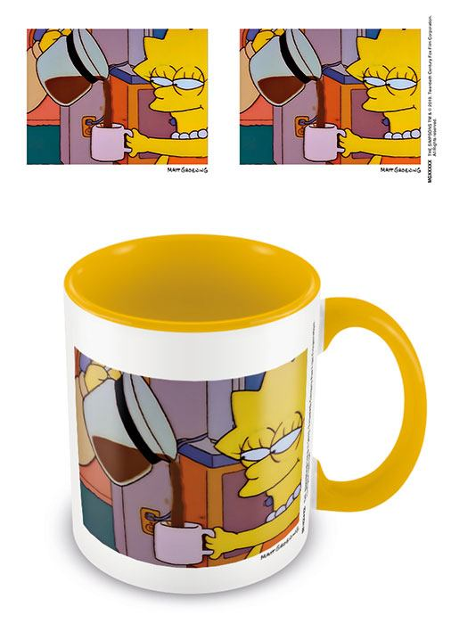 Simpsons Coloured Inner Mug Lisa Coffee