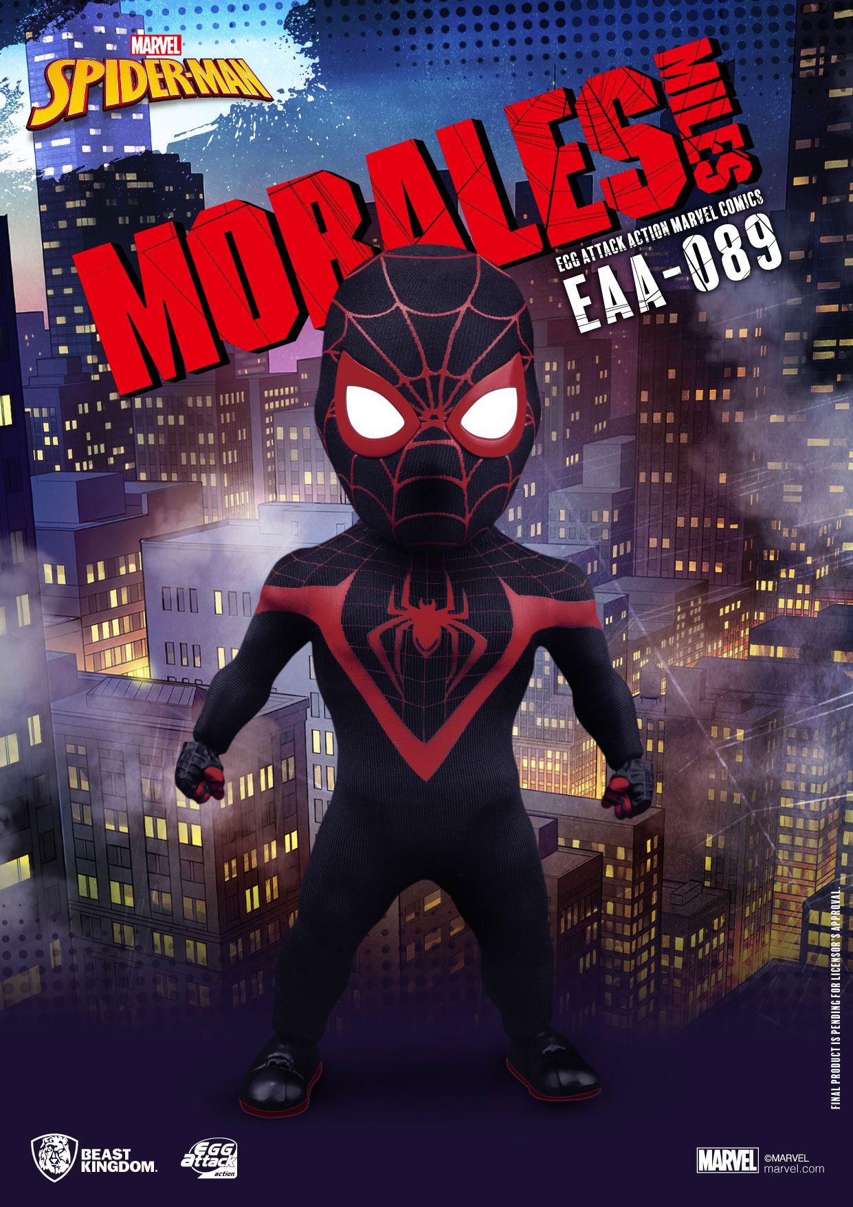 Marvel Comics Egg Attack Action Action Figure Miles Morales 16 cm