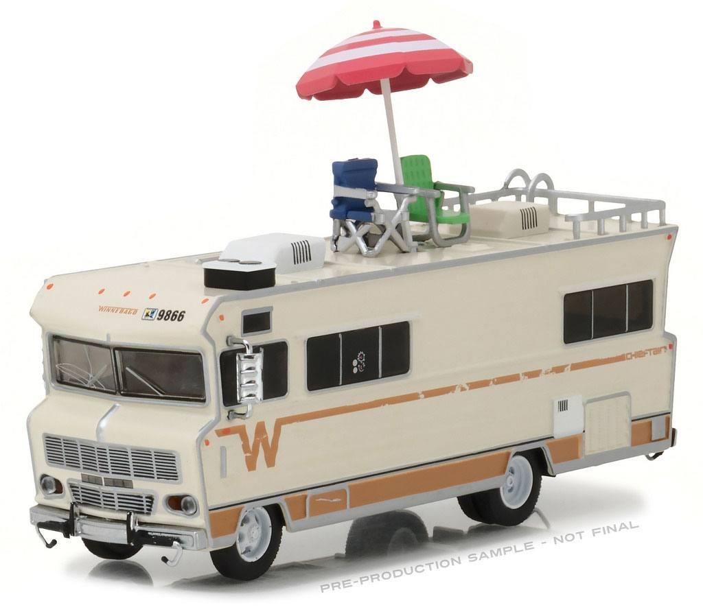 Walking Dead Diecast Model 1/64 Dale's 1973 Winnebago Chieftain with Umbrella