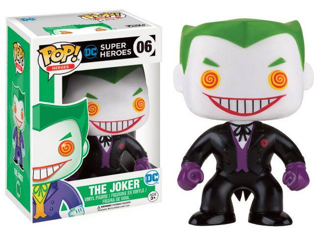 DC Comics POP! Heroes Figure The Joker (Black Suit) 9 cm
