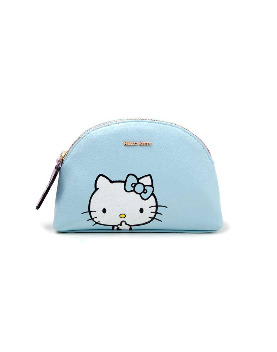 Hello Kitty Coin Purse / Make Up Bag Blue Kitty
