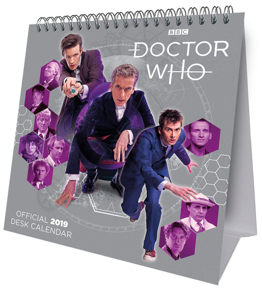Doctor Who Desk Easel Calendar 2019 English Version*