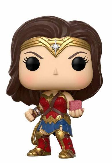 Justice League Movie POP! Movies Vinyl Figure Wonder Woman with Mother Box 9 cm