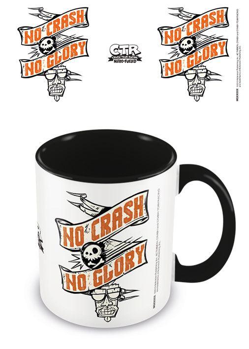 Crash Team Racing Coloured Inner Mug No Crash No Glory