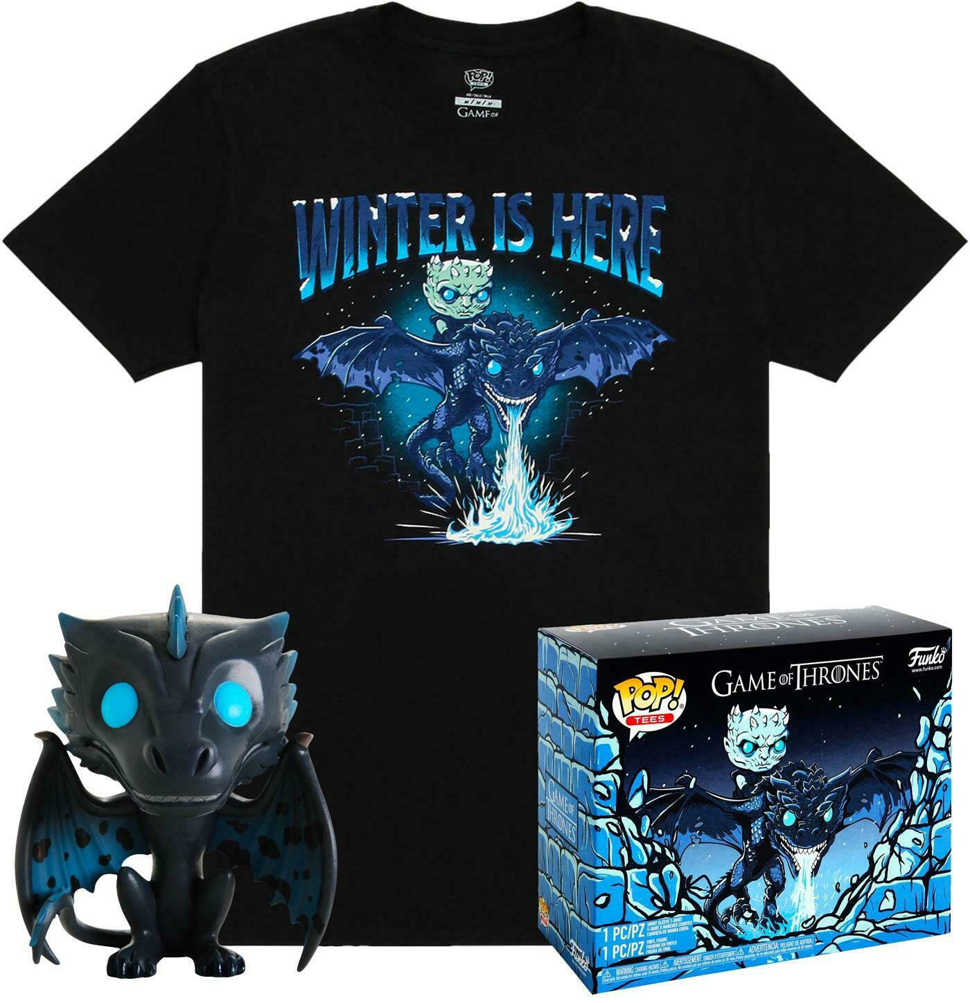 Game of Thrones POP! & Tee Box Icy Viserion heo Exclusive Size S