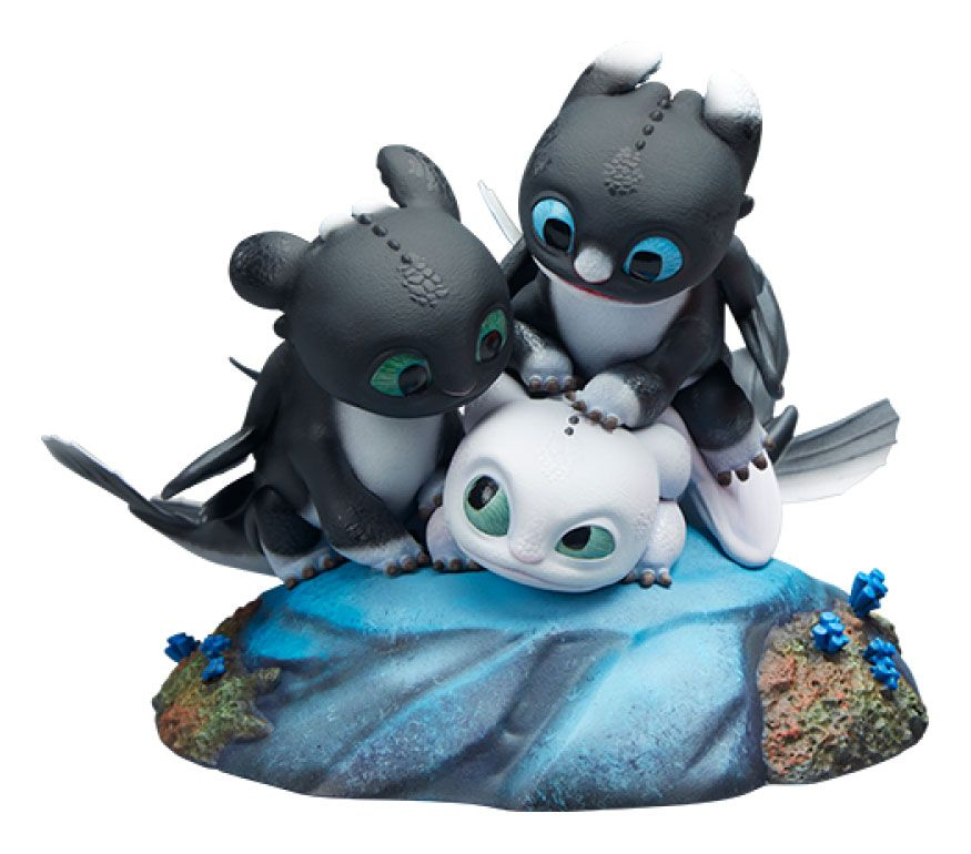 How to Train Your Dragon: The Hidden World Statue Dart, Pouncer and Ruffrunner 15 cm