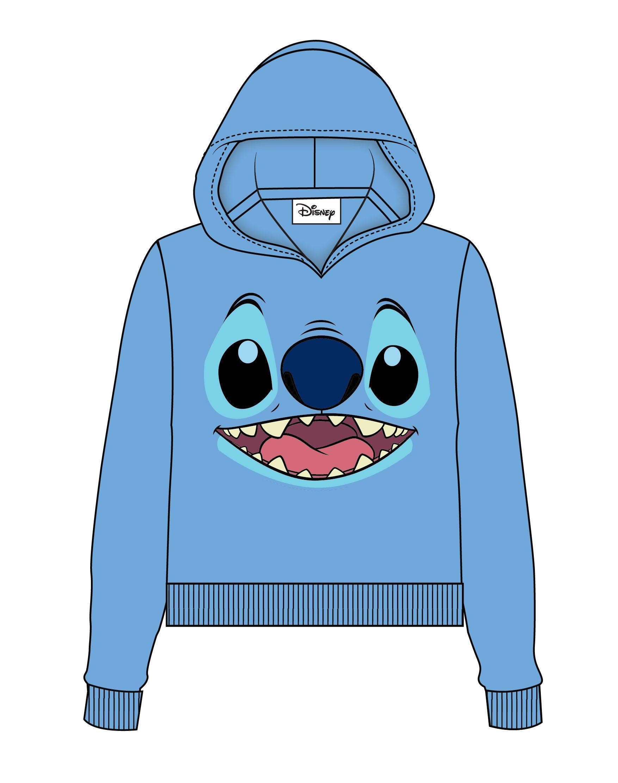 Lilo & Stitch Ladies Hooded Sweater Stitch Face Size L