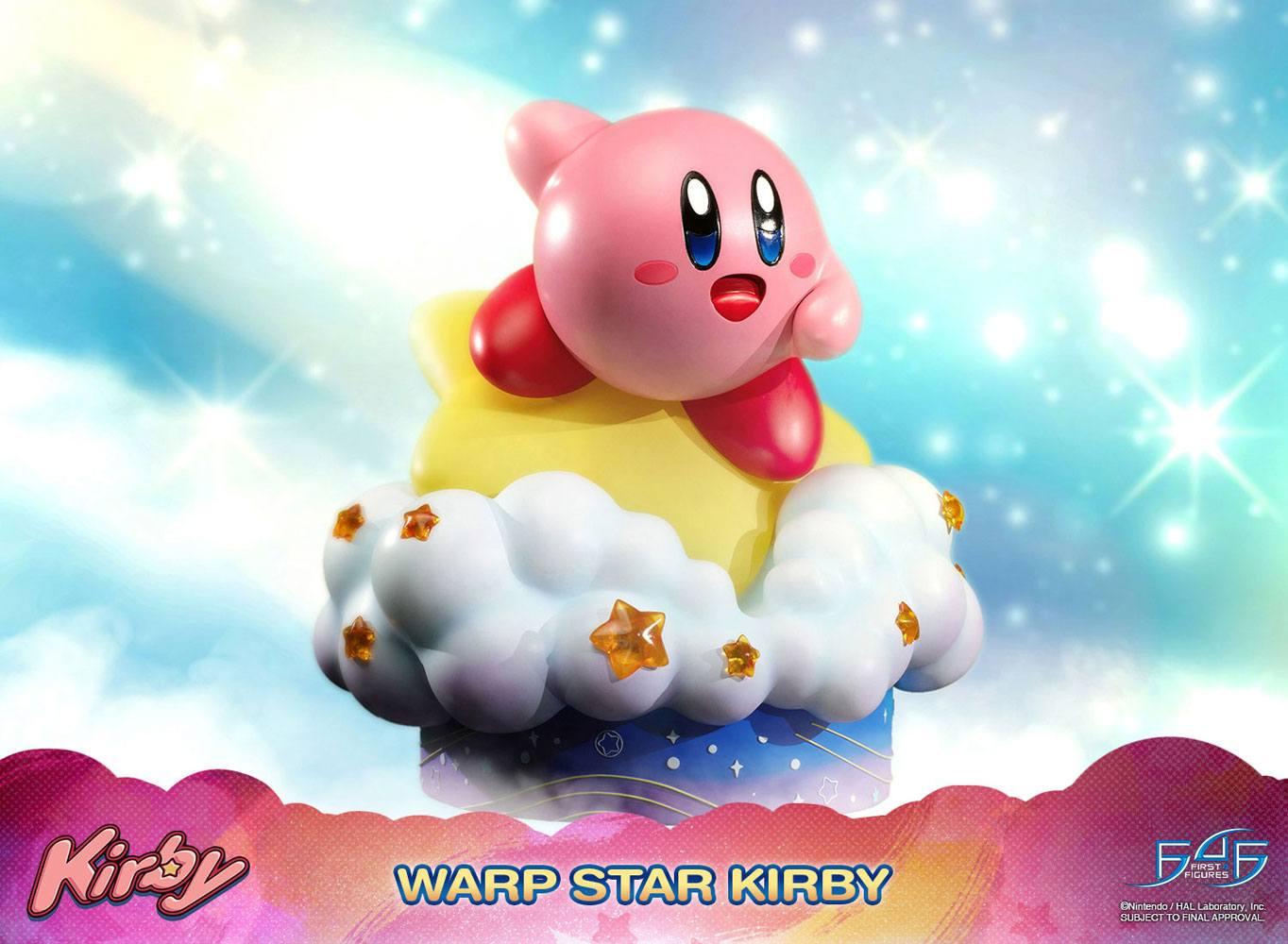 Kirby Statue Warp Star Kirby 30 cm