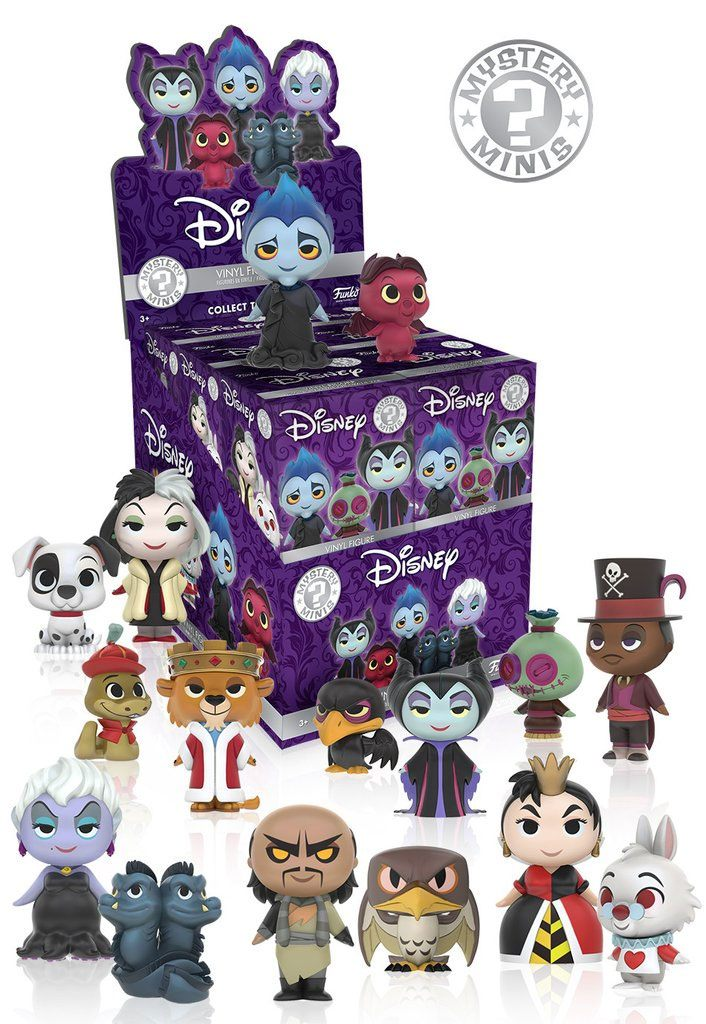 Disney Mystery Minis Vinyl Mini Figures 6 cm Villains Display (12)