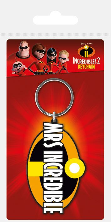 The Incredibles 2 Rubber Keychain Mrs. Incredible 6 cm