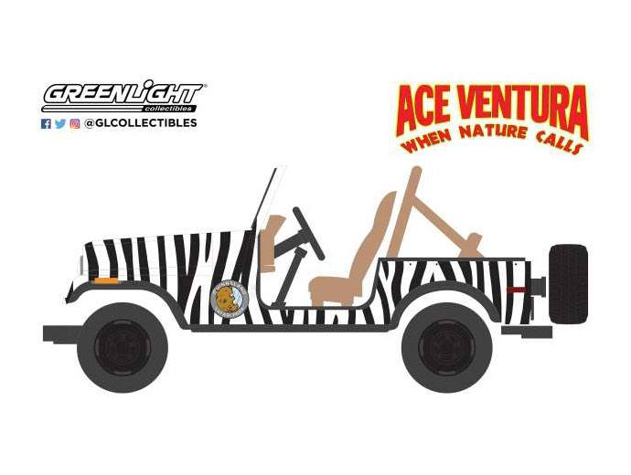 Ace Ventura: When Nature Calls Diecast Model 1/64 1976 Jeep CJ-7