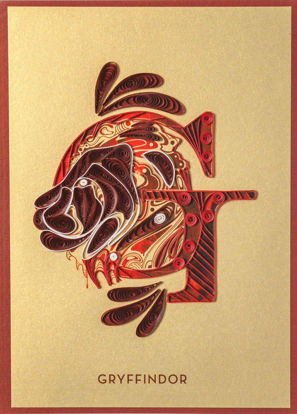 Harry Potter Quilled Greeting Card Gryffindor