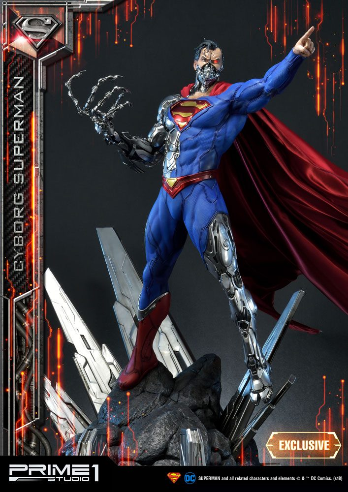 DC Comics Statues 1/3 Cyborg Superman & Cyborg Superman Exclusive 93 cm Assortment (3)