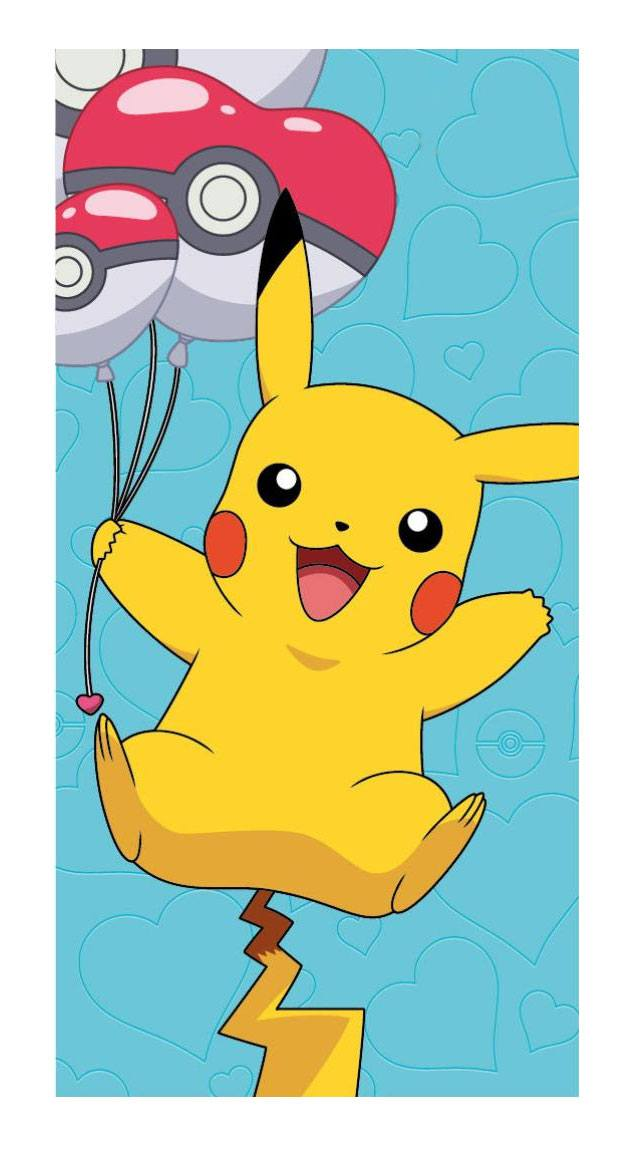 Pokemon Towel Pikachu & Party Balloons 140 x 70 cm