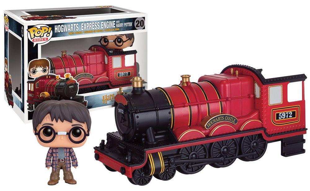Harry Potter POP! Rides Vinyl Vehicle with Figure Hogwarts Express Engine & Harry Potter 12 cm