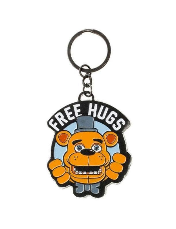 Five Nights at Freddy's Metal Keychain Free Hugs