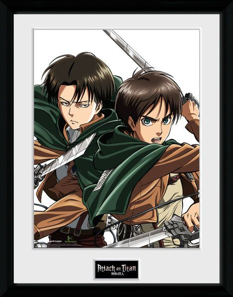 Attack on Titan Framed Poster Levi 45 x 34 cm