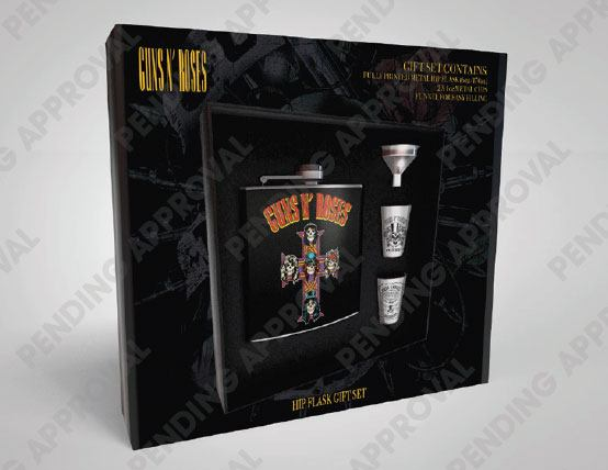 Guns n' Roses Hip Flask Set Cross